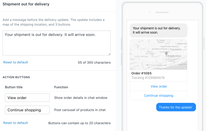 Customizing Automated Messages In Messenger Shopify Help
