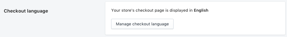 Shopify checkout language