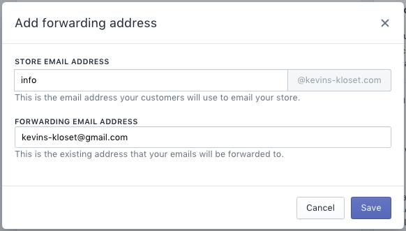 添加转发地址