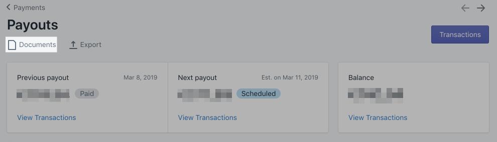 Le bouton Afficher les paiements de Shopify Payments