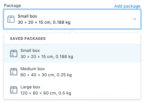 461938f982273 Packages and shipment weights · Shopify Help Center