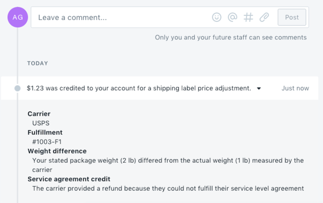 Shipping label price adjustments · Shopify Help Center