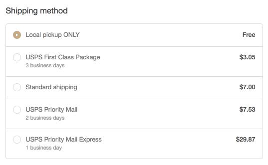 Shopify Shipping - 當地取貨費率 2