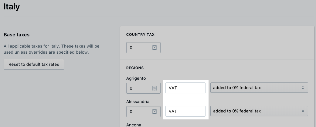 Taxes outside of US and Canada · Shopify Help Center
