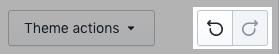 Les boutons Annuler et Rétablir dans la barre d'outils de l'éditeur de thème