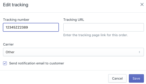 Add tracking numbers to fulfilled orders · Shopify Help Center