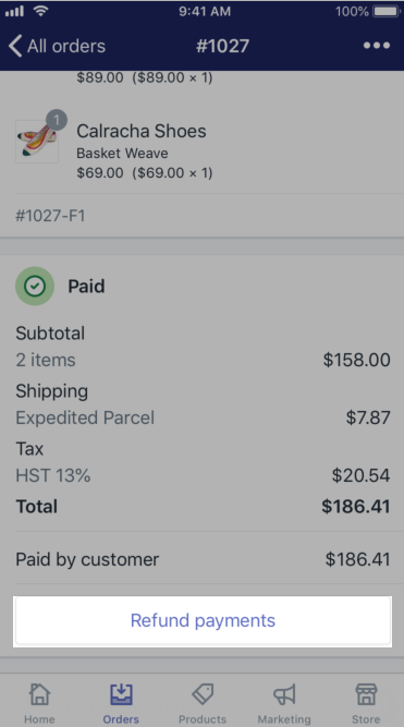 Refunding and canceling orders · Shopify Help Center