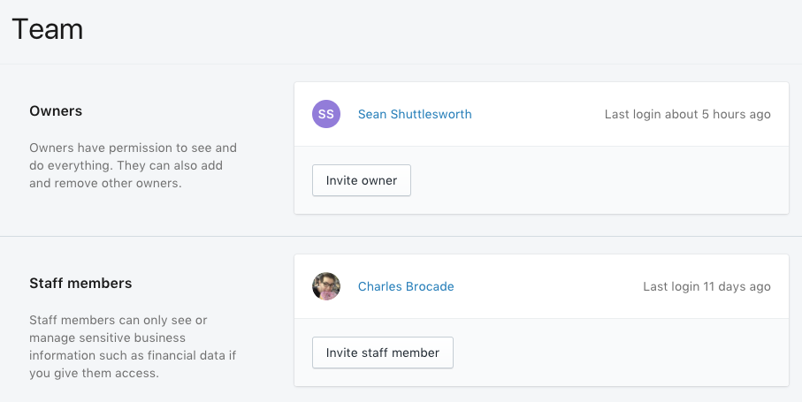 Create a staff account