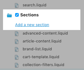 Add a new section