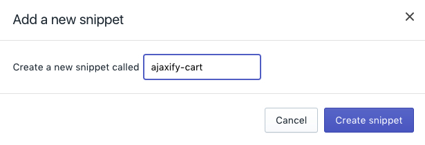 ajaxify-cart snippet