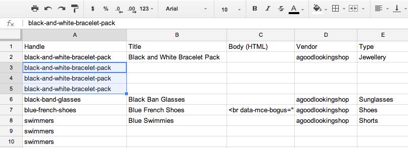 Using CSV files · Shopify Help Center