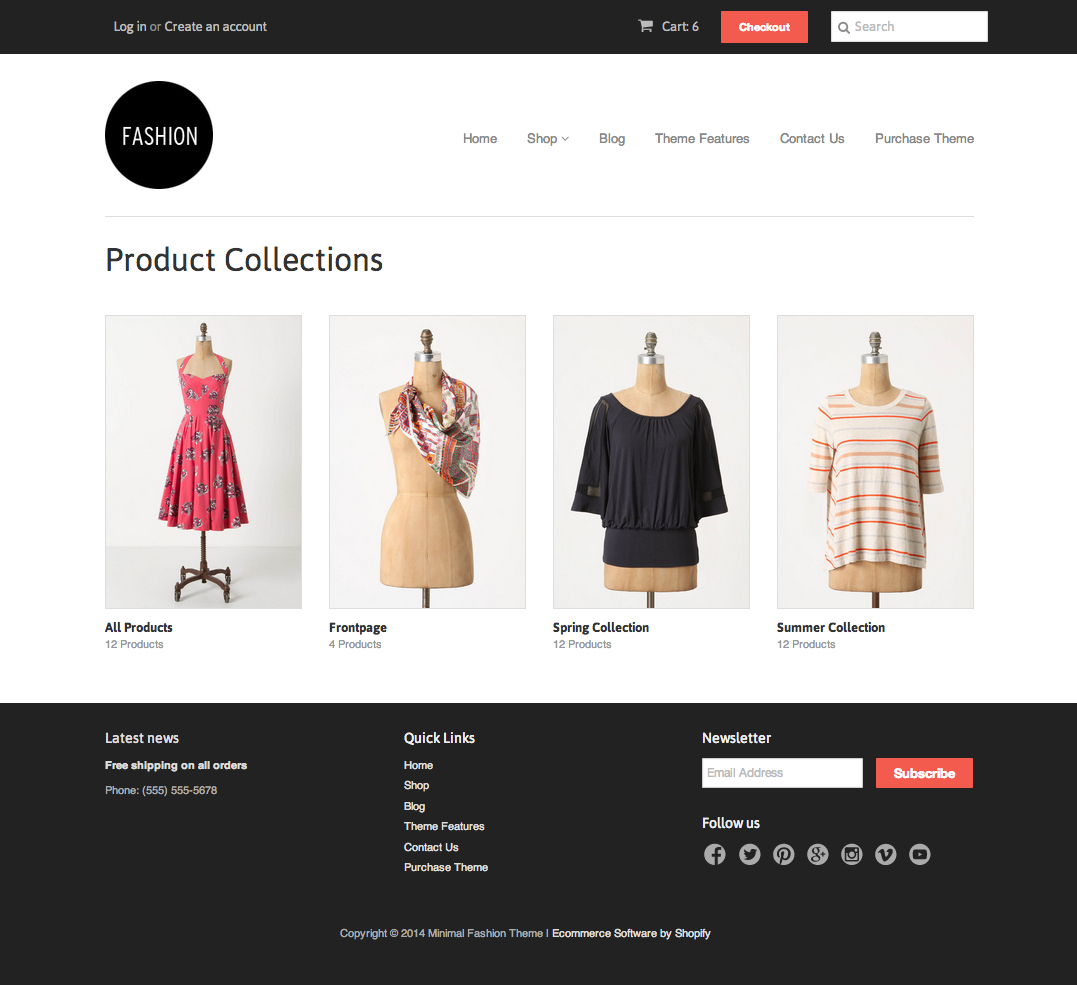 7f420c88c84e The list-collections. liquid template is used to render a page where all of  the collections in the shop are listed. This template can be accessed by  going ...