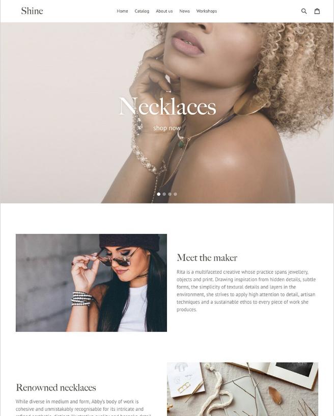 Ejemplo de tienda online que usa Debut