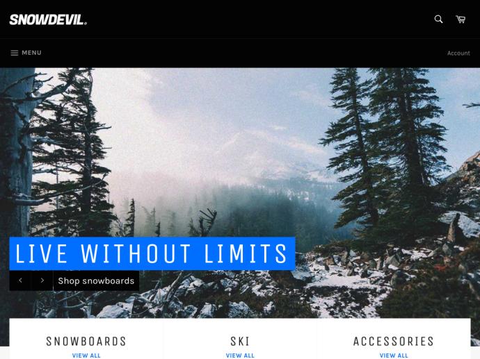 Example online store using Venture